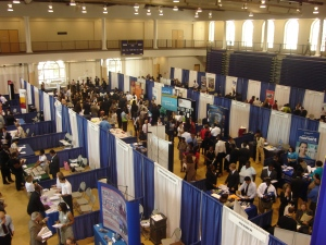 Job Fair Overhead Picture